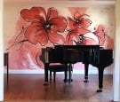 Large oversized Poppy mural
