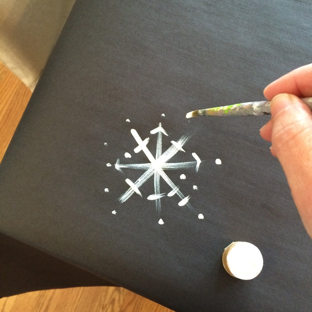 Adding snowflake touches