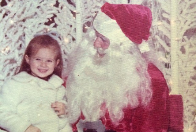 Sitting on Santa's lap Christmas 1975