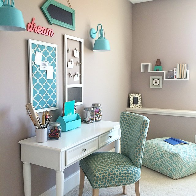 Bedroom Colour Grey Bedroom Wall Almirah Designs Green Bedroom Accessories Vintage Bedroom Accessories: Turquoise Teen Room And Organized Desk/craft Table