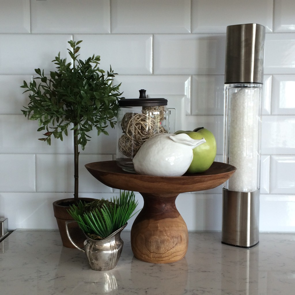kitchen counter styling by Meme Hill.com