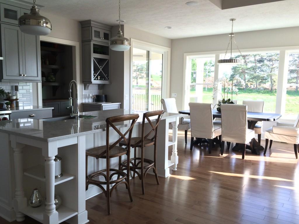 gray and white cooks kitchen