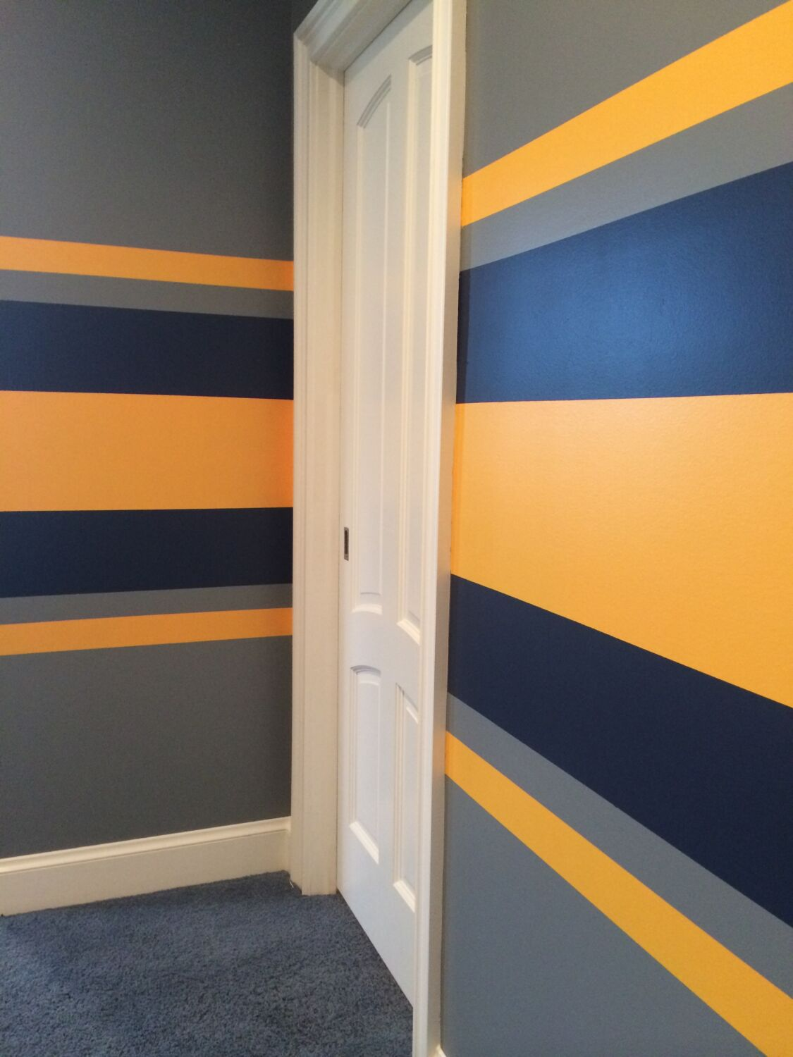 Easy to learn tricks and tips to painting stripes in a day for Painting stripes on walls in kids room