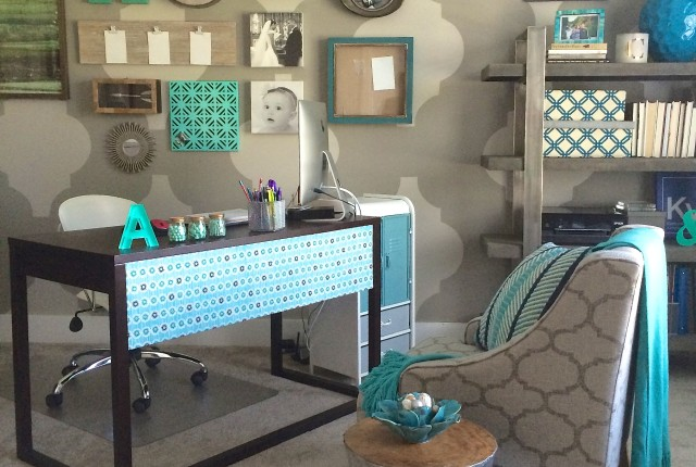 Chic and functional Back to School Mom Office Makeover