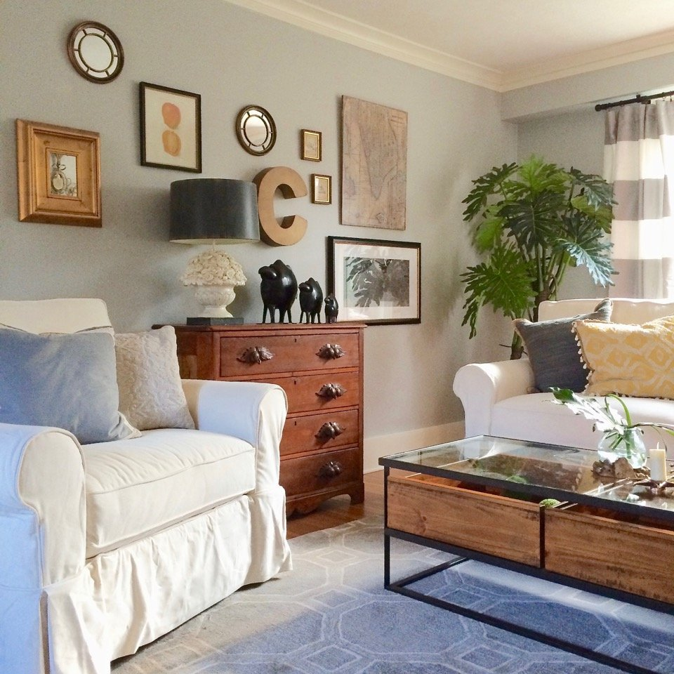 Living Room Makeover: Decorating For Fall: Living Room Furniture Makeover
