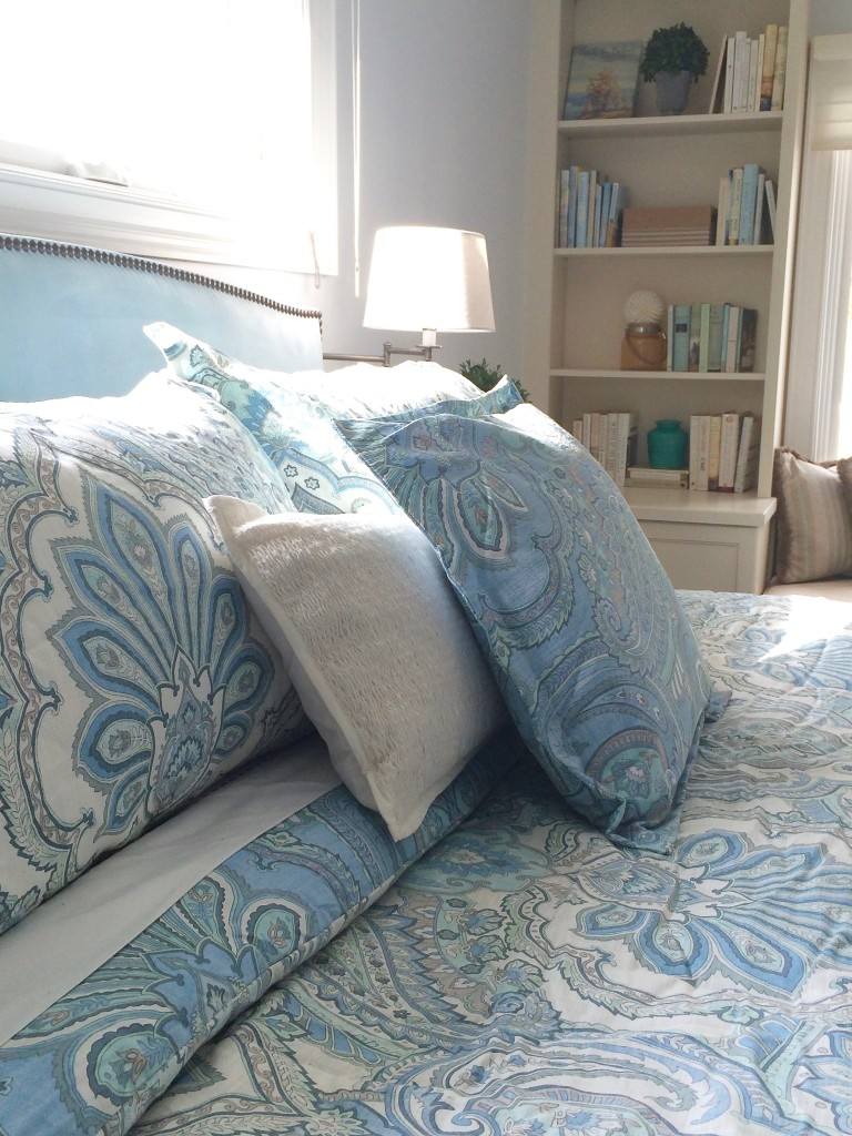 Springtime Blues; A quick guest bedroom makeover