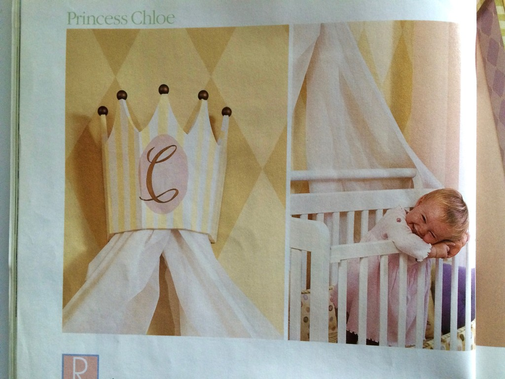 Princess Chloe: Better Homes and Gardens magazine painted furniture nursery