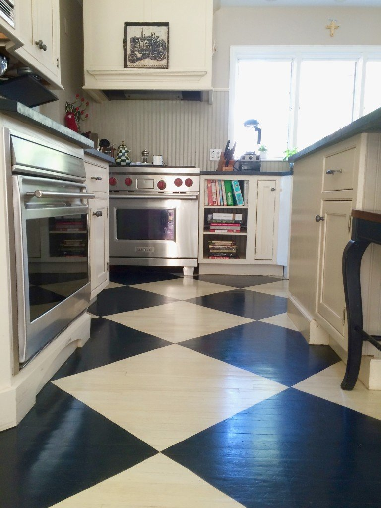 Checkered Kitchen Floor