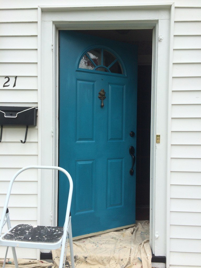 National Painting Week Front Door Spring Spruce up with Sherwin Williams & National Painting Week: A front door makeover with Sherwin Williams