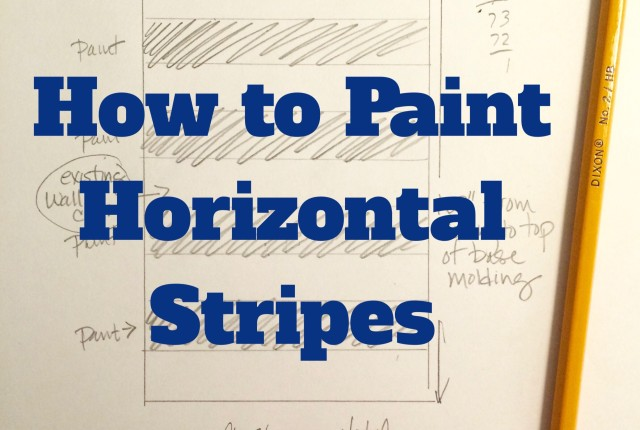 DIY How to Paint Horizontal Stripes with Meme Hill Studio