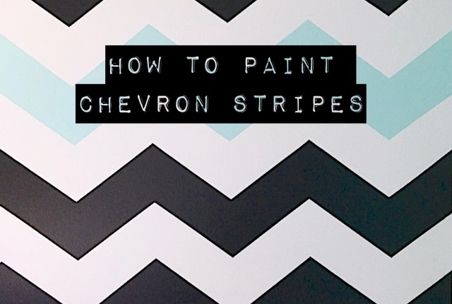 How_to_paint_chevron_stripes_ turquoise_black_white_wall_bedroom_sherwin_Williams_ Tame_teal
