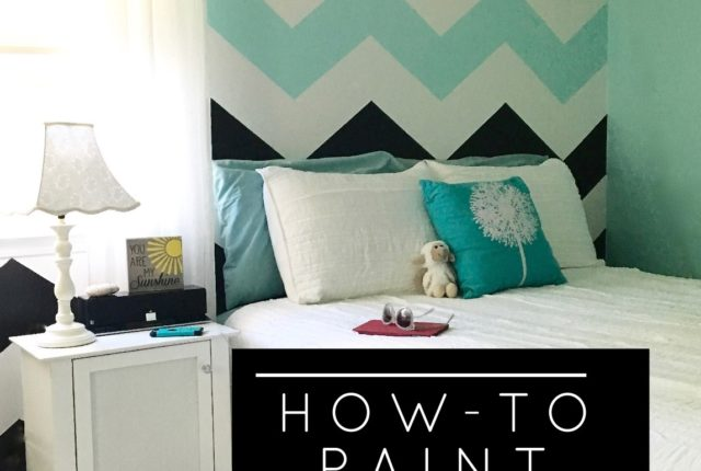 how_to_paint_chevron_stripes-black_and_white_turquoise