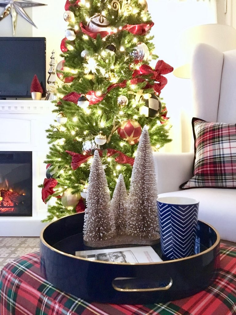christmas decorating ideas master bedroom homegoods plaid tree