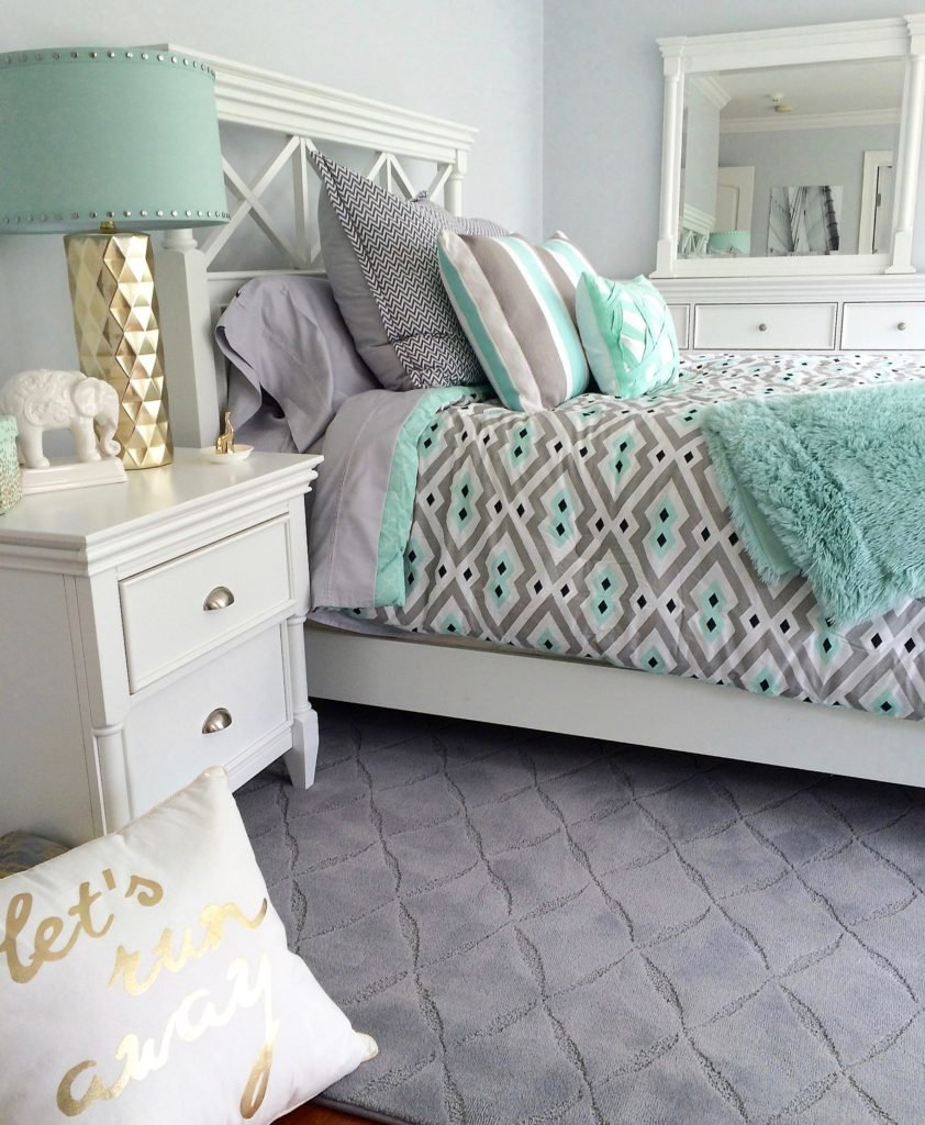 gray-mint-green-teen-rrom-bedding-chevron-amazing-bedroom-chic-meme-hill