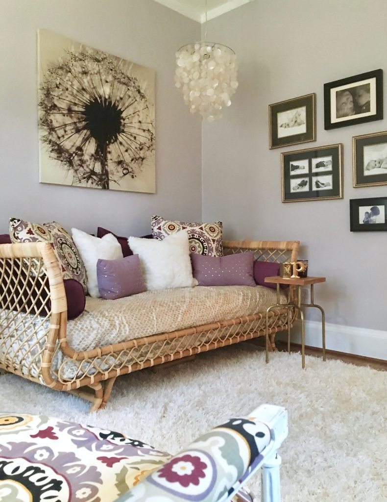 serena-lilly-daybed-girl-room-chandelier-shell-purple-meme-hill-mom-office-womans-boho-chic-room
