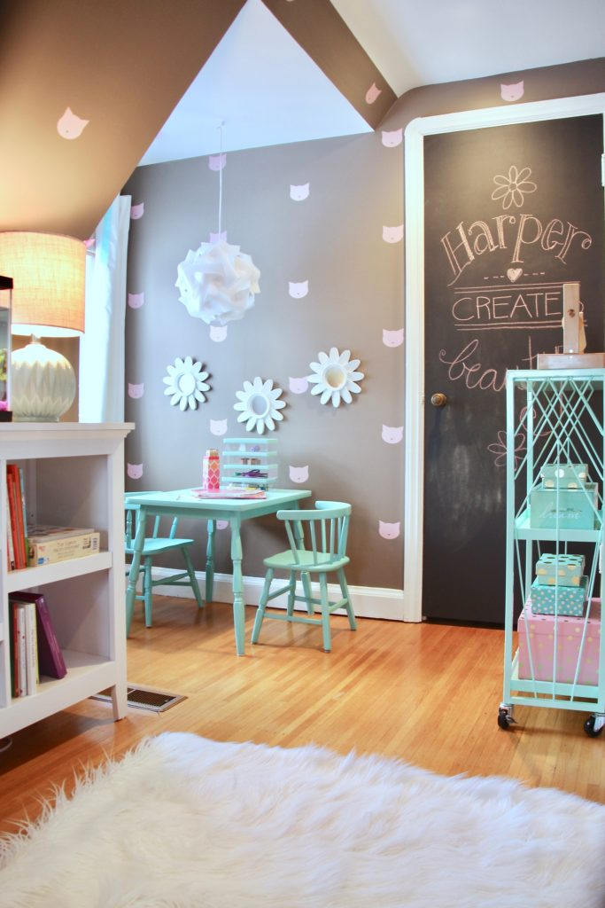 Sherwin_williams_poised_taupe_color_year_land_nod_Homegoods_target_Pink-Mint_green_girls_room_Cute_fabulous_art-reading-teepee-tent_ombre