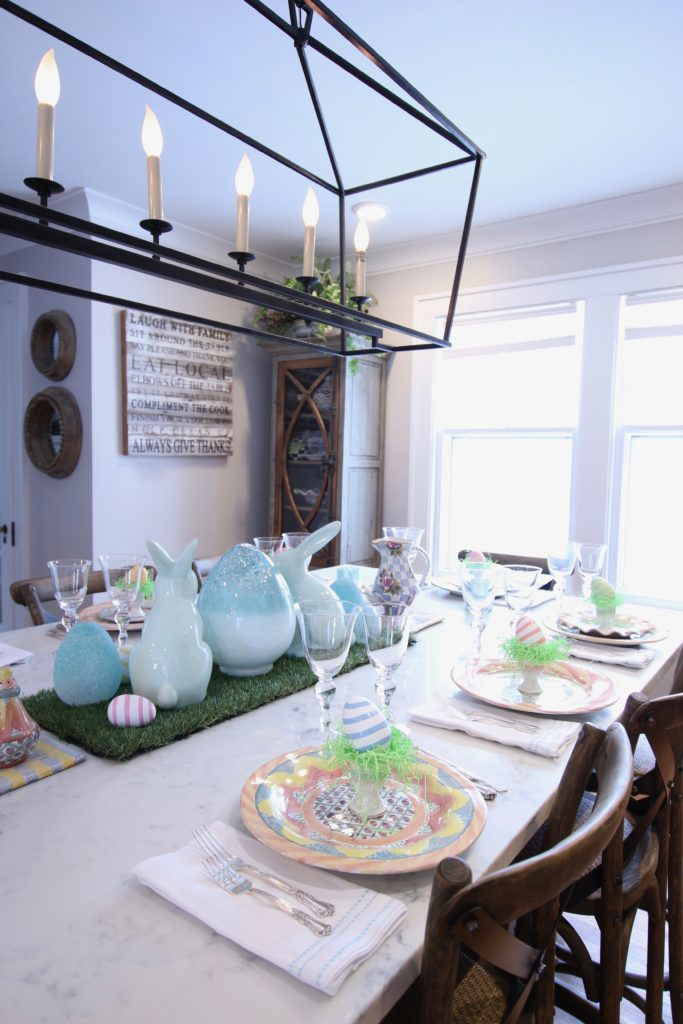 HomeGoods_Easter_eggs_turquoise_glass_painted_Rabbits_meme_hill_studio_kitchen_crocus_mackenzie_childs_dinnerware_rustic_kitchen