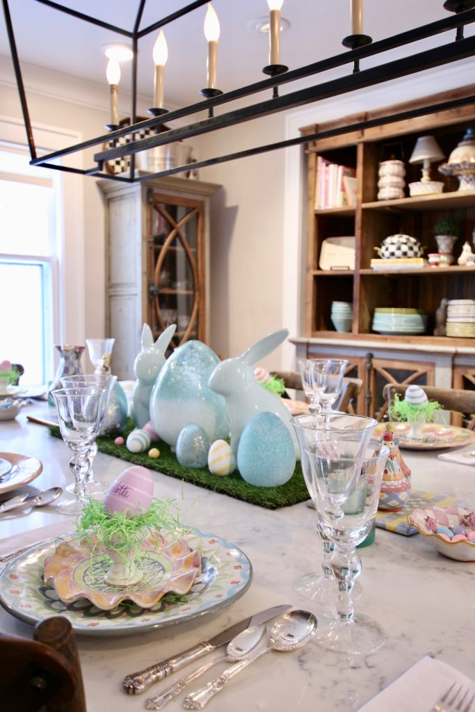 HomeGoods_Easter_eggs_turquoise_glass_painted_Rabbits_meme_hill_studio_kitchen_crocus_mackenzie_childs_dinnerware_silver_rustic