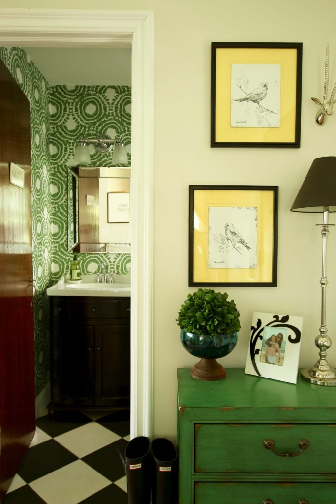 Wallpapering a Powder Room: Small on Space, Big on Style - memehill ...
