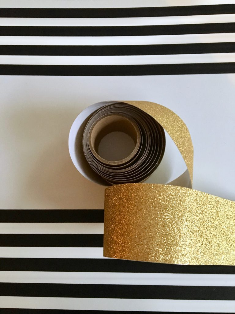 REbin-earth_day_recycling_bin_cool-stylish_washi_tape_DIY-black_white_decorate_michaels_gold_glitter