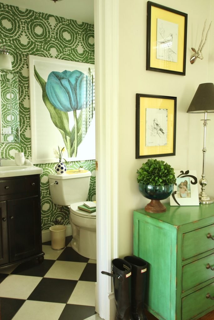 Wallpapering A Powder Room Small On Space Big On Style