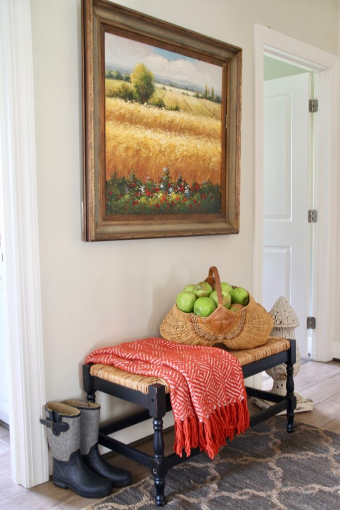 Fall_Blogger_home_tour_living_room_neutral_decor_autumn_colors_meme_hill_Amie_freling_HomeGoods_blanket_field_art_mudroom_cozy