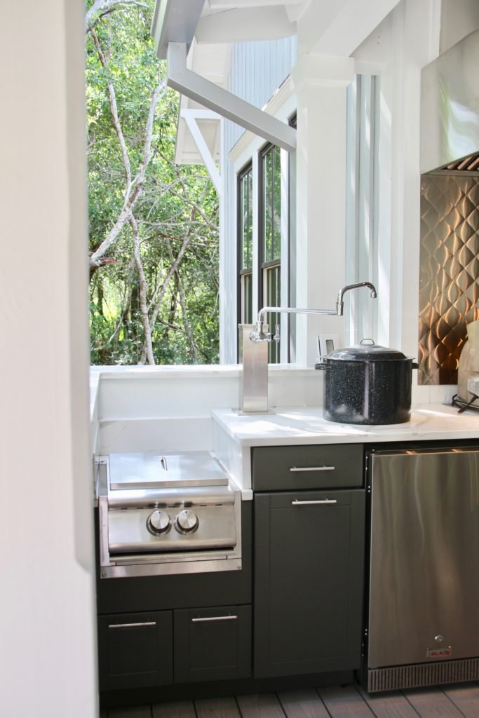 Southern _living_Idea_House_2017_Delta_faucet_bald_head_island_Meme_hill_Inside_kitchen_outdoor_pot_filler_Blaze_chrome