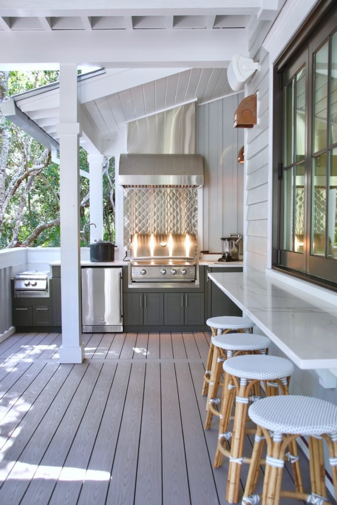 Southern _living_Idea_House_2017_Delta_faucet_bald_head_island_Meme_hill_Inside_kitchen_outdoor_pot_filler_Blaze_industrial_porch