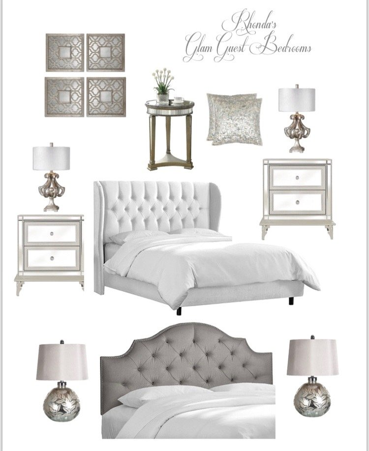 Meme_HIll_studio_amie_Freling_Raymour_flanigan_White_glam_bedroom_gorgeous_Thayer_upolstered_bed_tufted_velvet_headboard_mirrored_furniture