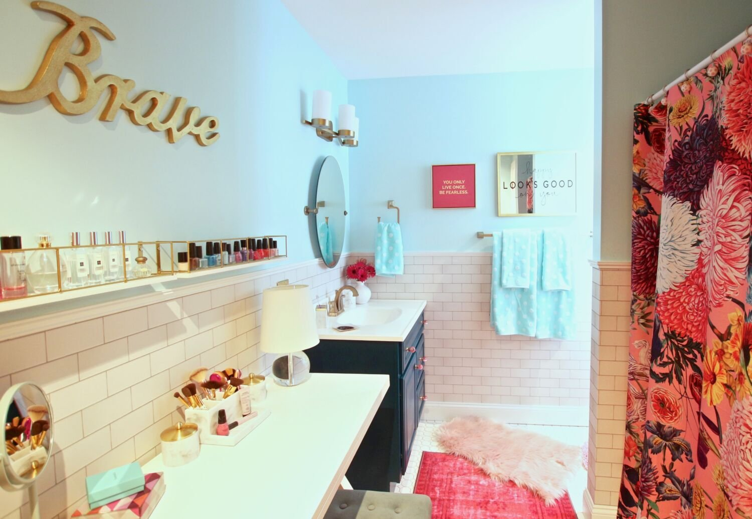 Surprise Her With a Chic Valentine\'s Day Bathroom Makeover