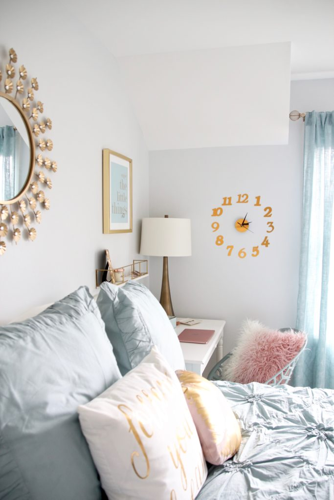 Designing_Teen_room_to_Last_white_furniture_makeover_bedroom_MemeHIll_studio_amie_freling_decorating_ideas_lighting_turquoise_pink_gold_bedding