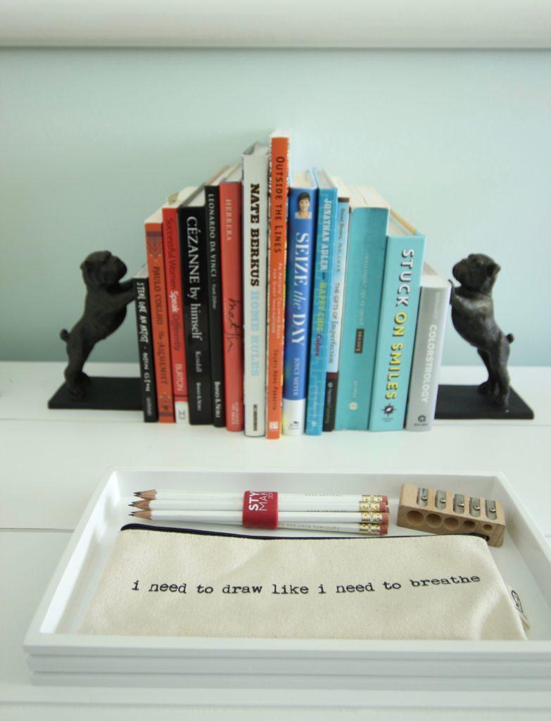 bulldog book ends, bulldog art, bulldog sculpture, art studio