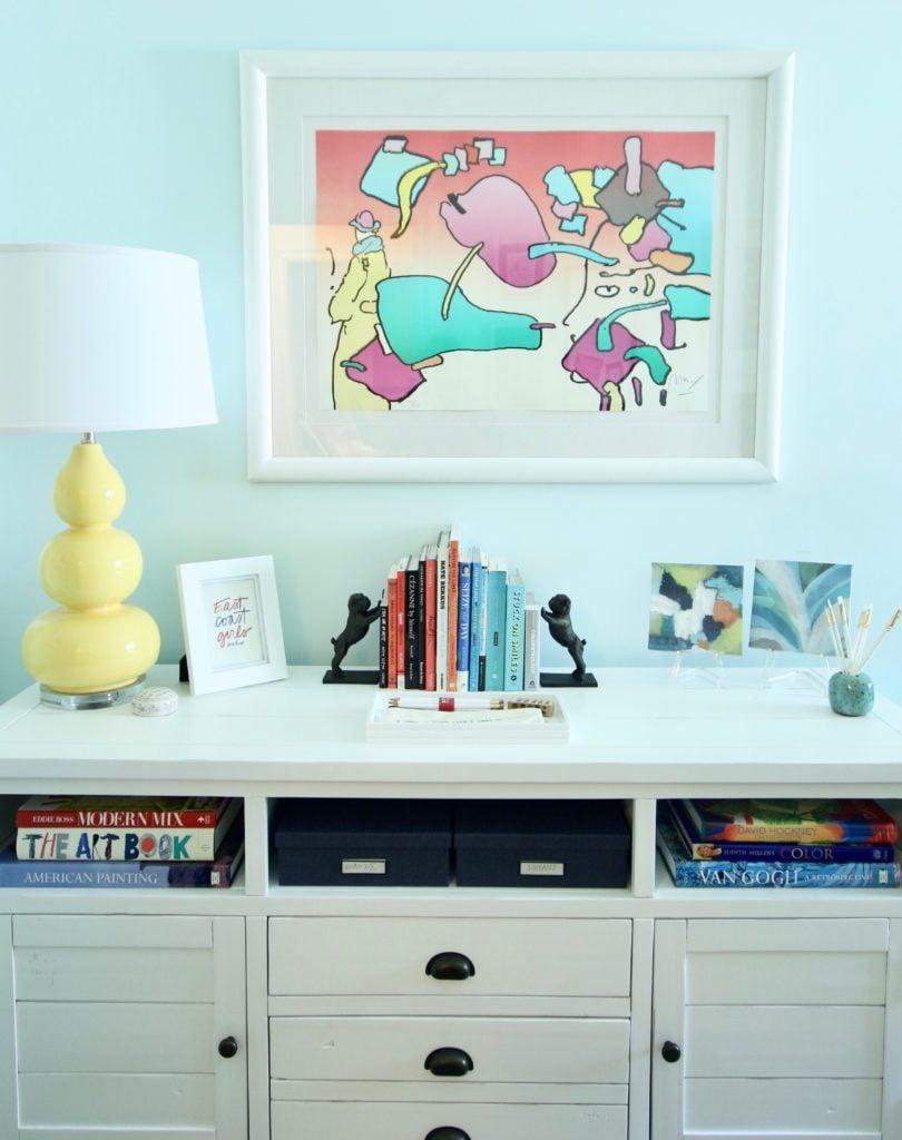 art studio, artist's home office, home office ideas