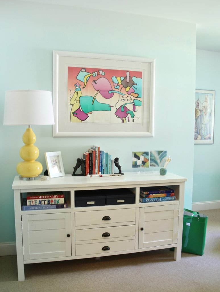 how to decorate your home office, peter max art, cool lamps