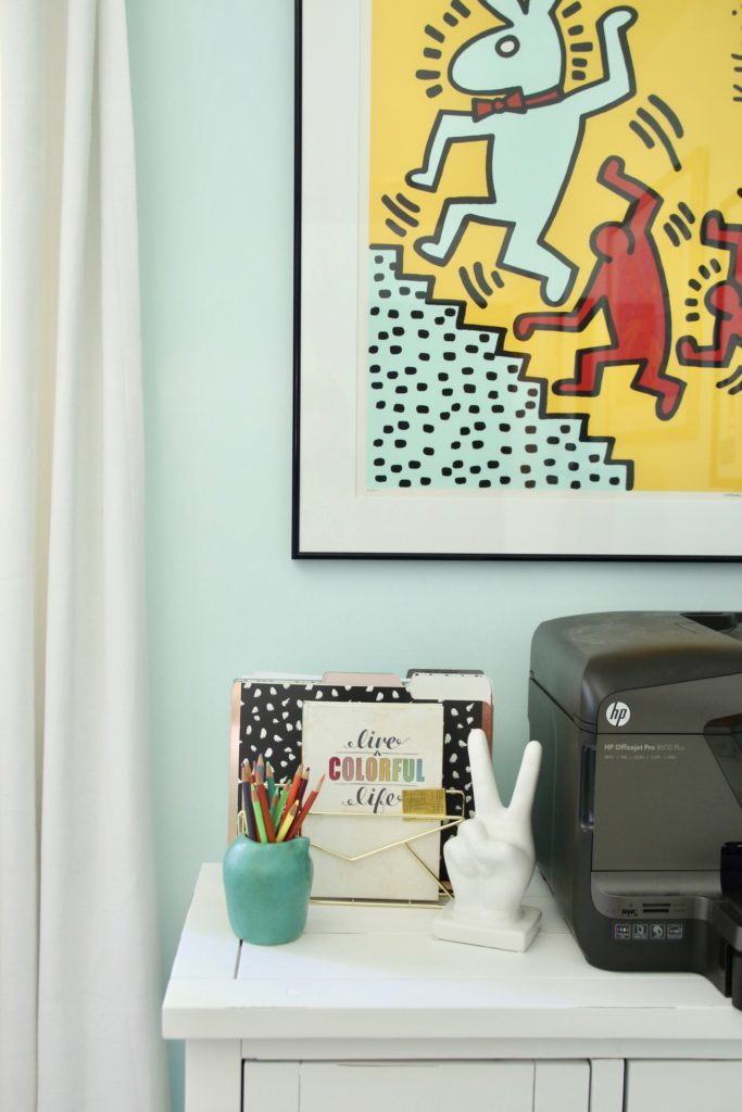 peace sign sculptures, living a colorful life, office furniture ideas