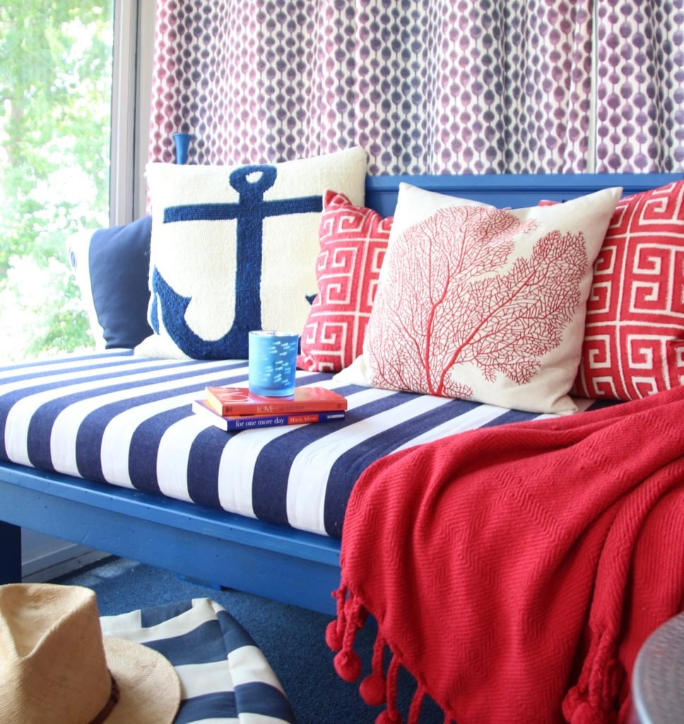 decorating nautical inspired summertime daybed Patio Lane ... on Nautical Patio Ideas id=77979