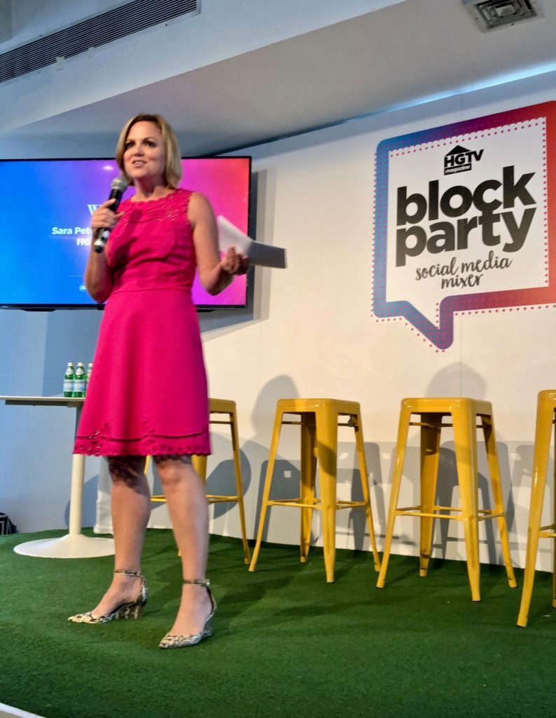 editor in chief Sara Peterson, hgtv magazine editor, hgtv block party