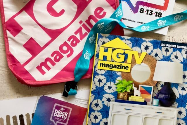 hgtv magazine swag bag, hgtv block party swag bag