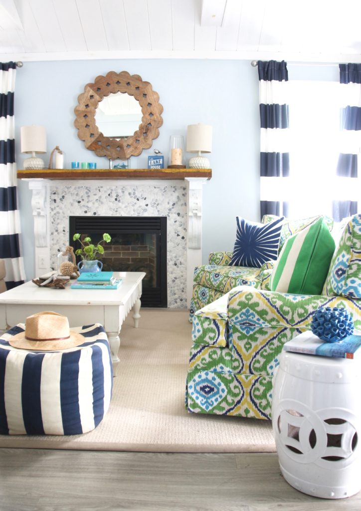 Fun Colorful Furniture Fabrics Cottage Living Lake House Decorating Ideas