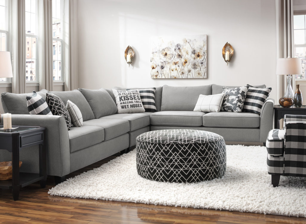 gray sectional raymour and Flanigan