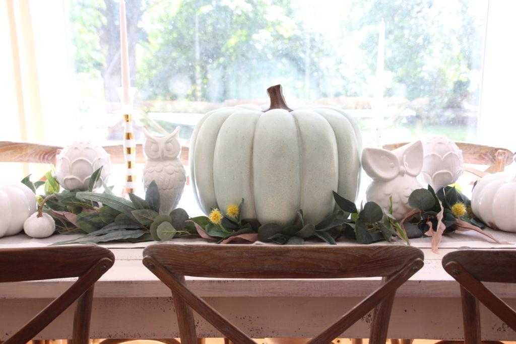 big pretty turquoise pumpkins Homegoods Fall decor