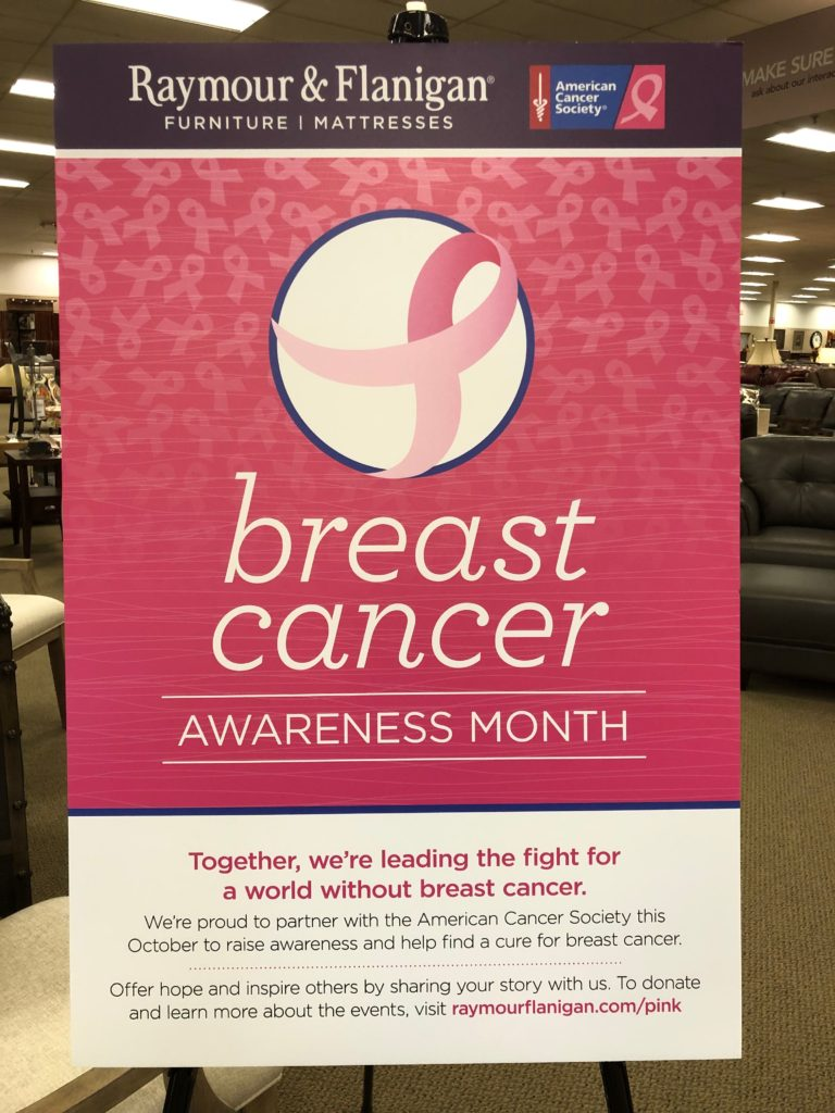 raymour flanigan breast cancer month
