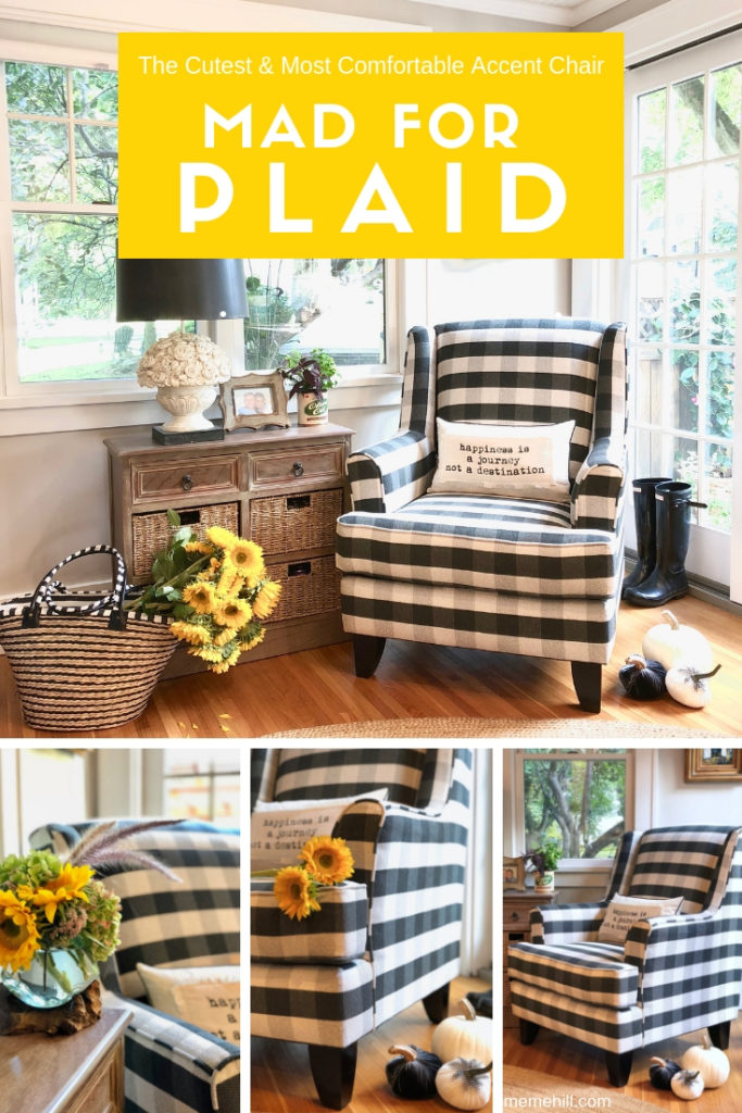 buffalo check chairs, plaid black chairs