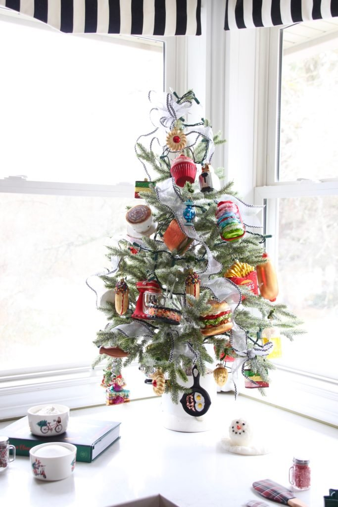 kitchen christmas trees, food ornaments