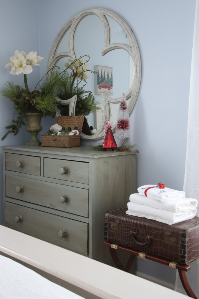 guest bedroom ideas, christmas decorating ideas, painted furniture