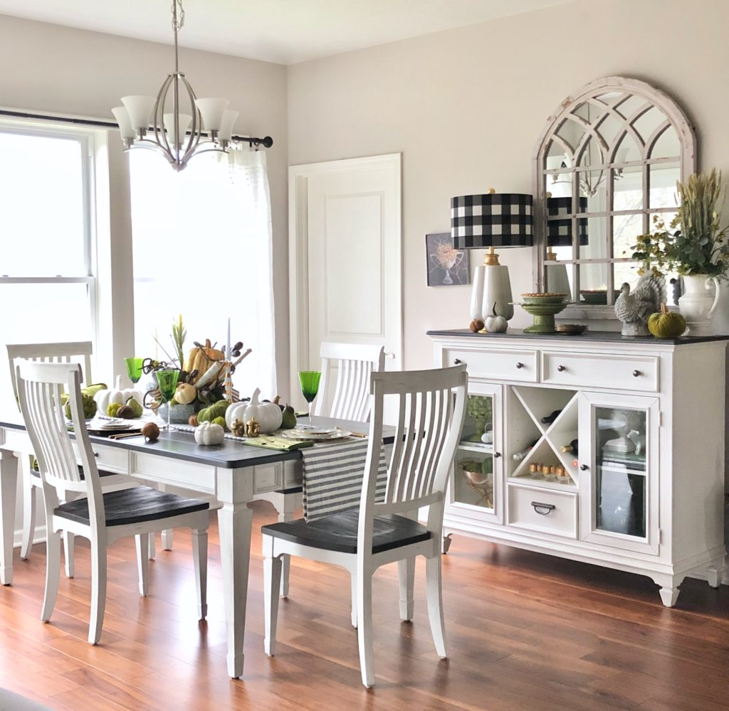 white and black dining sets, casual farm tables