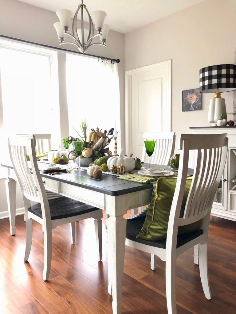 white casual ding sets. pretty farmhouse style tables and chairs