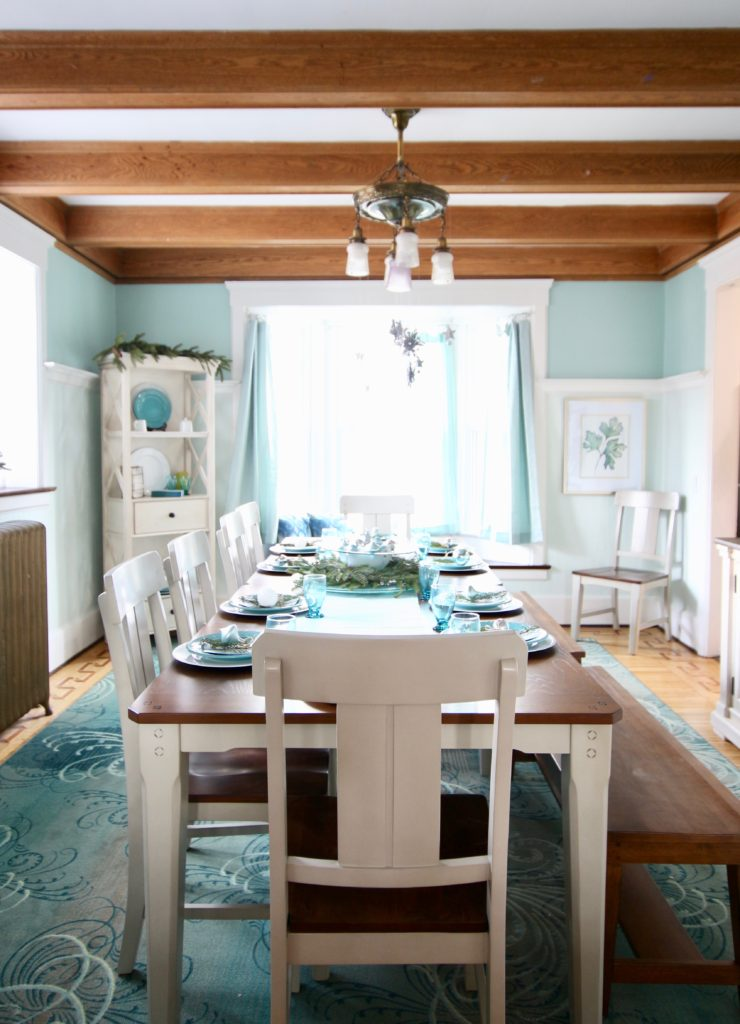 Jennifer House Rochester Ny, dining room makeover, turquoise dining rooms